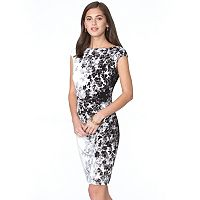 Women's Chaps Chain Print Sheath Dress