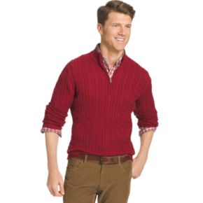 Men's IZOD Classic-Fit 7GG Cable-Knit Quarter-Zip Sweater | null