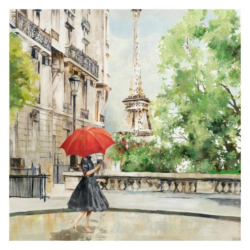 Artissimo Paris Walk Canvas Wall Art