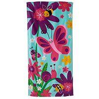 Jumping Beans Happy Flowers & Bugs Beach Towel