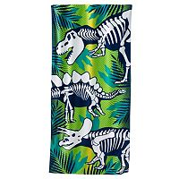 Jumping Beans Dino Skeletons Beach Towel