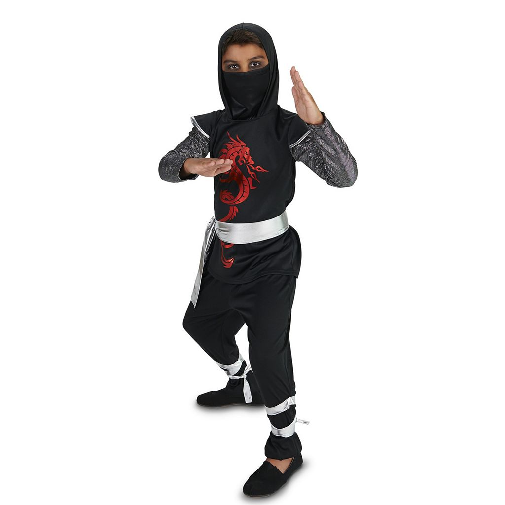 Kids Dark Dragon Ninja Costume