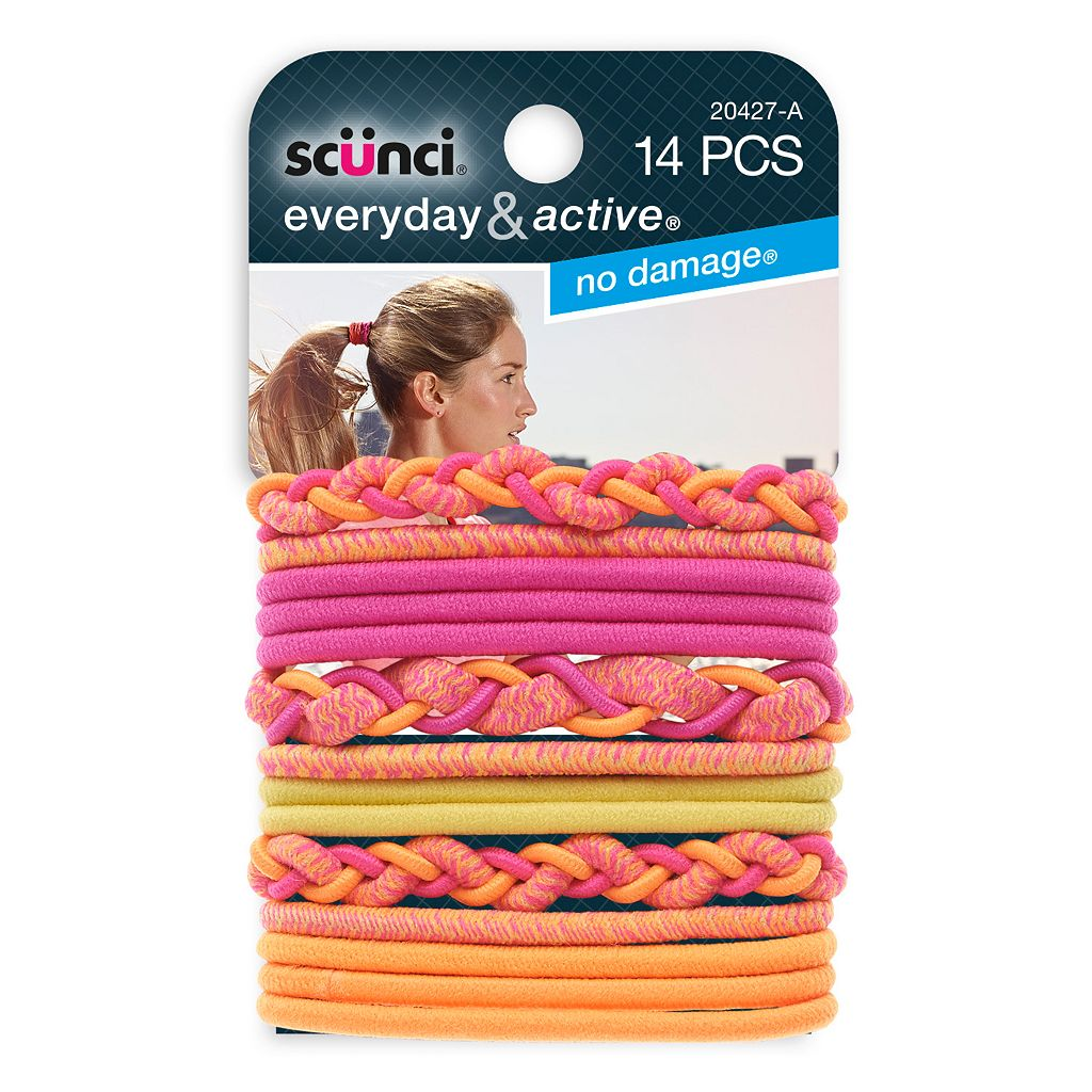 Scunci 14-pk. Braided & Mixed No Damage Hair Tie Set