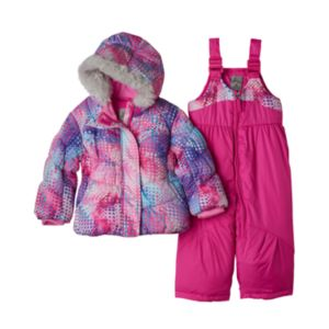 Baby Girl ZeroXposur Heavyweight Dot Jacket & Bib Snow Pants Set