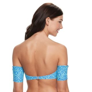 Juniors' Malibu Tribal Bandeau Bikini Top