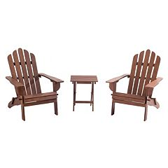 Sunjoy Adirondack Chair & End Table 3-piece Set
