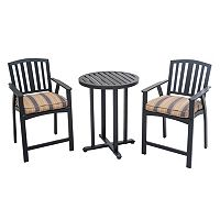 Sunjoy Berry Pointe Bistro Table 3-piece Set