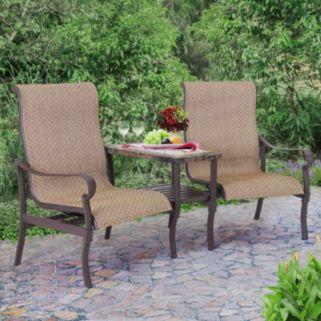 Sunjoy Cantina Tete-a-Tete Rocker Chair & End Table