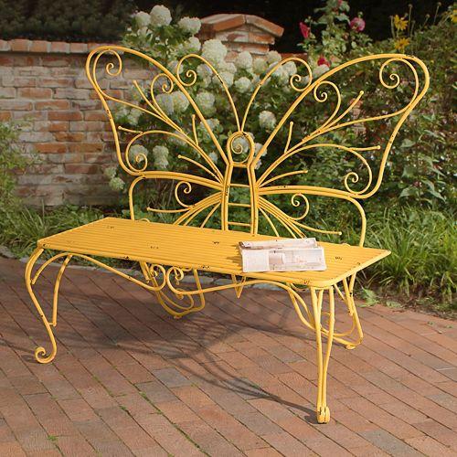 Sunjoy Butterfly Patio Bench