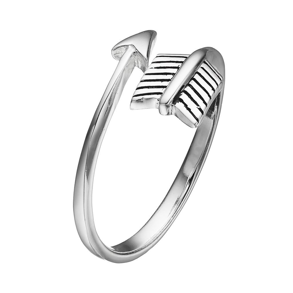PRIMROSE Sterling Silver Arrow Bypass Ring