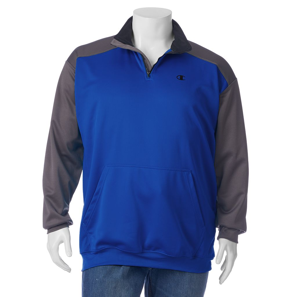 Big & Tall Champion Colorblock Performance Quarter-Zip Pullover