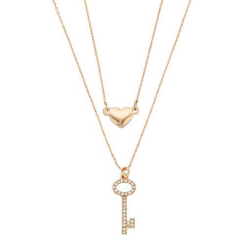 0657e1c3bb LC Lauren Conrad Heart & Key Pendant Necklace Set