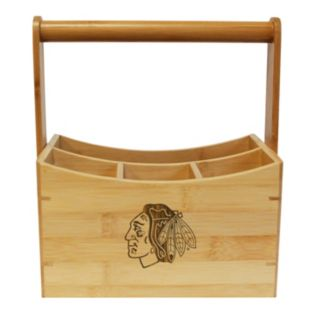 Chicago Blackhawks Bamboo Utensil Caddy