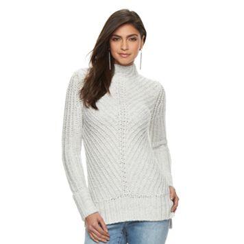 Women's Jennifer Lopez Metallic Mockneck Sweater