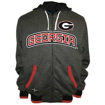 Men's Franchise Club Georgia Bulldogs Power Play Reversible Hooded Jacket
