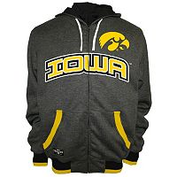 Men's Franchise Club Iowa Hawkeyes Power Play Reversible Hooded Jacket