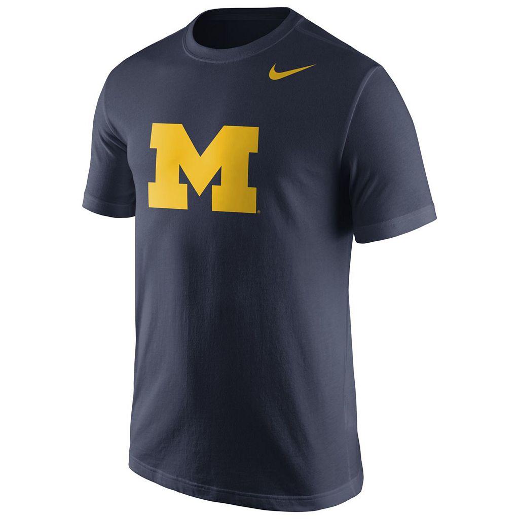 Men's Nike Michigan Wolverines Logo Tee