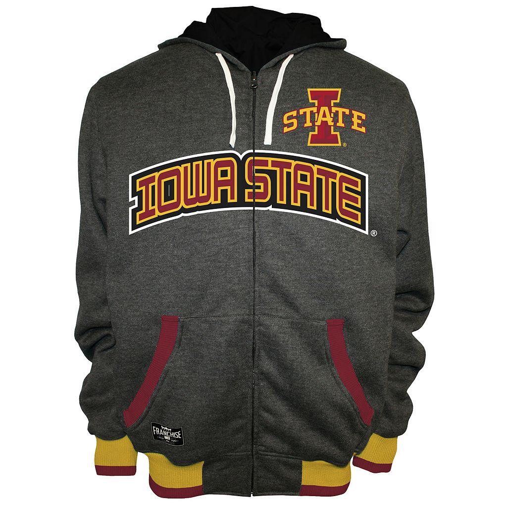 Men's Franchise Club Iowa State Cyclones Power Play Reversible Hooded Jacket