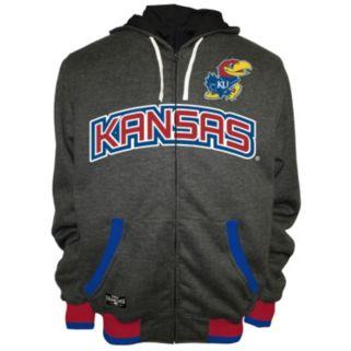 Men's Franchise Club Kansas Jayhawks Power Play Reversible Hooded Jacket