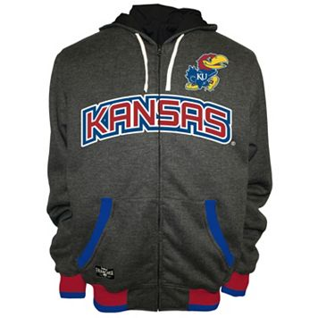 Men's Franchise Club Kansas Jayhawks Power Play Reversible Hooded Jacket