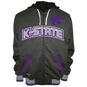 Men's Franchise Club Kansas State Wildcats Power Play Reversible Hooded Jacket