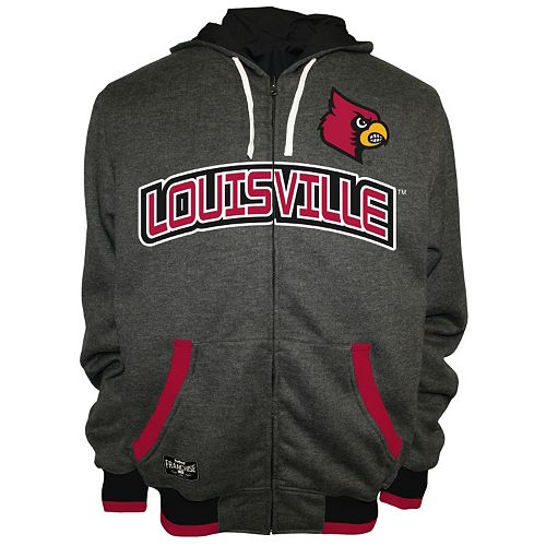 Men's Franchise Club Louisville Cardinals Power Play Reversible Hooded Jacket