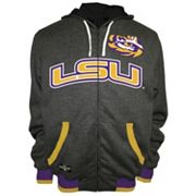 Men's Franchise Club LSU Tigers Power Play Reversible Hooded Jacket