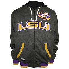Men's Franchise Club LSU Tigers Power Play Reversible Hooded Jacket