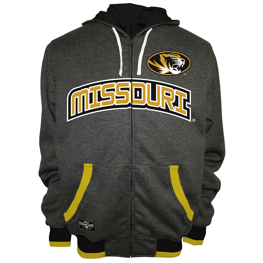 Men's Franchise Club Missouri Tigers Power Play Reversible Hooded Jacket