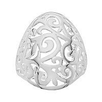 PRIMROSE Sterling Silver Filigree Dome Ring