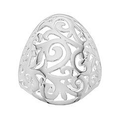 PRIMROSE Sterling Silver Filigree Dome Ring