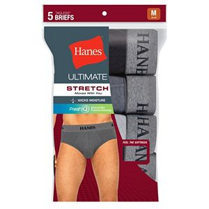 Men's Hanes Ultimate 5-pack Tagless Stretch Briefs