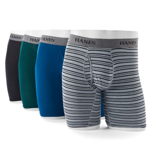 Men's Hanes Ultimate 4-pack Tagless Longer Leg Stretch Boxer Briefs