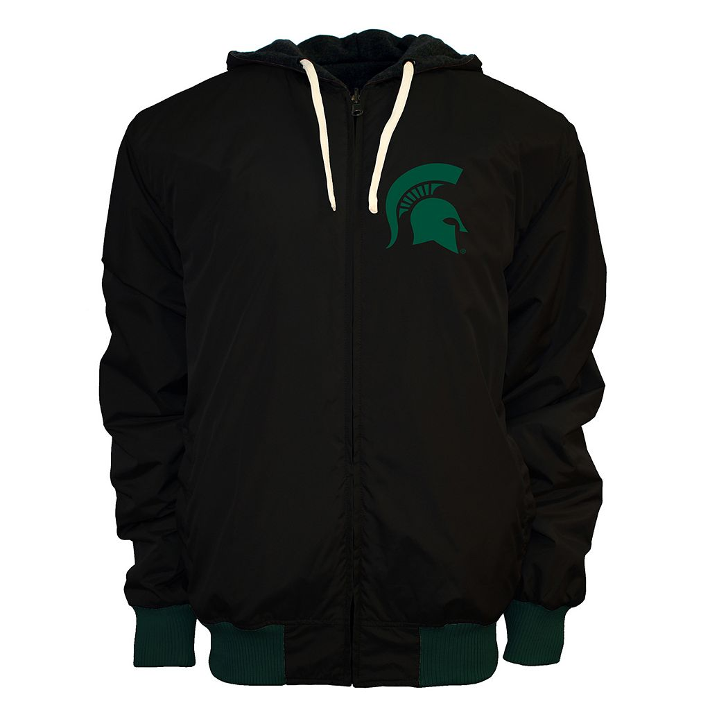 Men's Franchise Club Michigan State Spartans Power Play Reversible Hooded Jacket