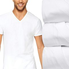 Men's Hanes 4-Pack Ultimate Stretch V-Neck Tees
