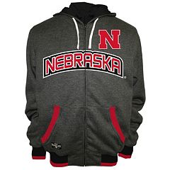Men's Franchise Club Nebraska Cornhuskers Power Play Reversible Hooded Jacket