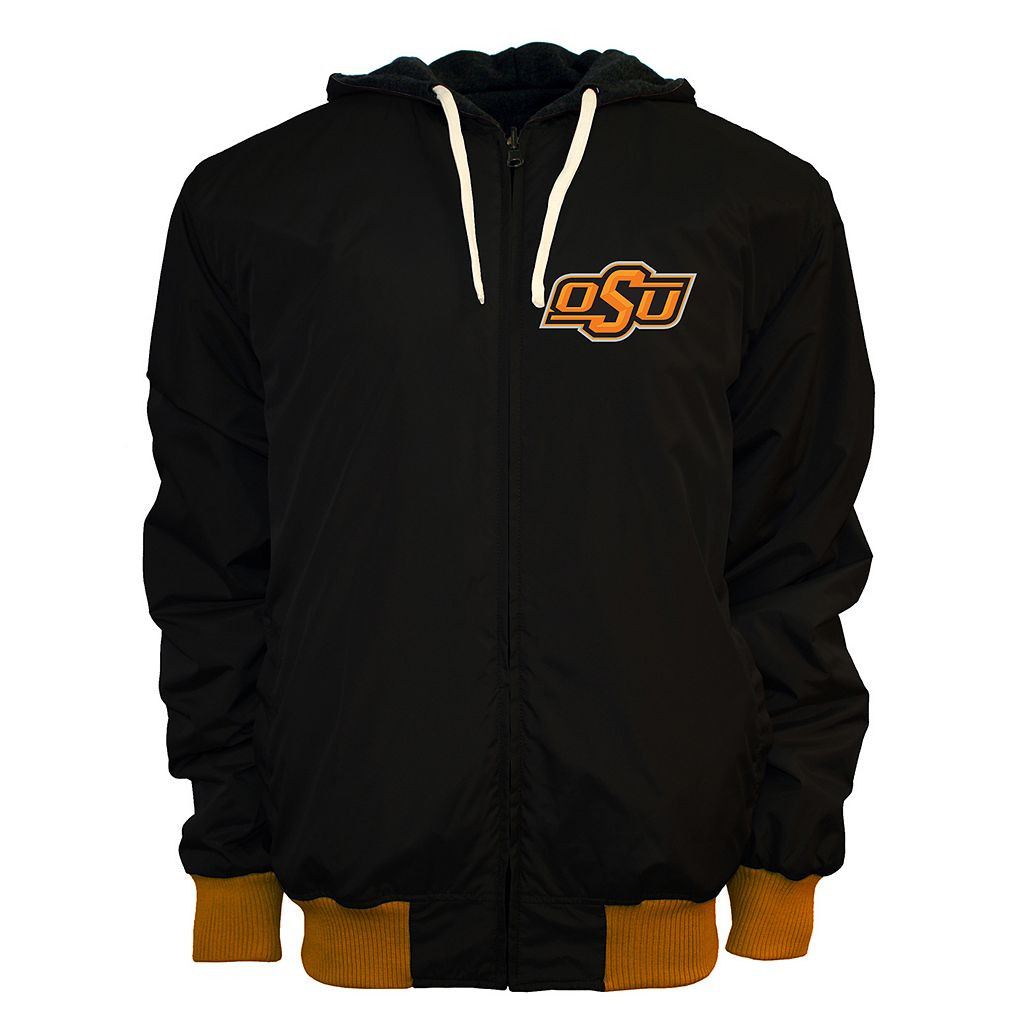 Men's Franchise Club Oklahoma State Cowboys Power Play Reversible Hooded Jacket
