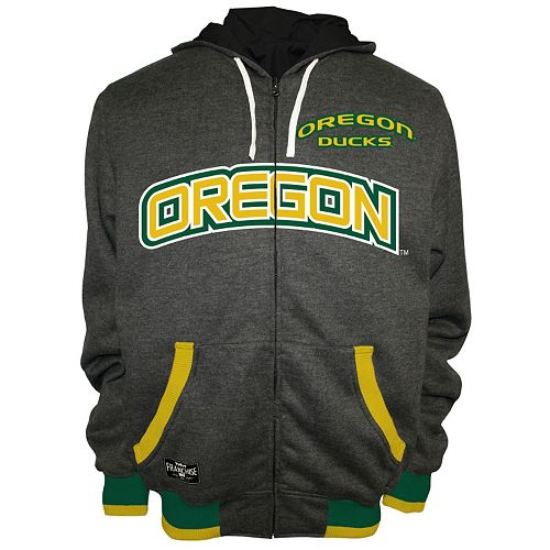 Men's Franchise Club Oregon Ducks Power Play Reversible Hooded Jacket