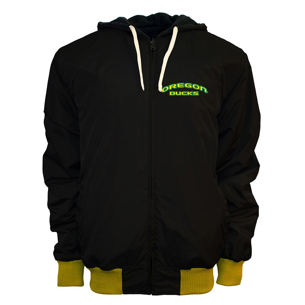 Men's Franchise Club Oregon Ducks Power Play Reversible Hooded Jacket