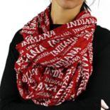 Women's ZooZatz Indiana Hoosiers Logo Infinity Scarf