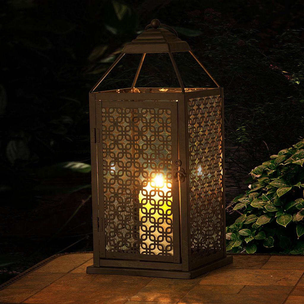 Sunjoy Large Geometric Indoor / Outdoor Lantern