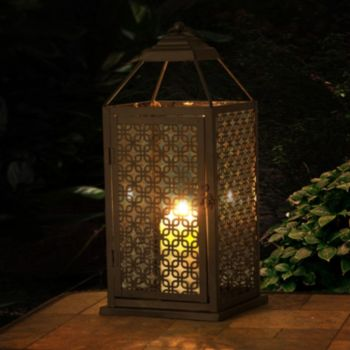 Sunjoy Large Geometric Indoor / Outdoor Lantern