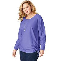 Plus Size Just My Size Side Tie Tunic Shirt