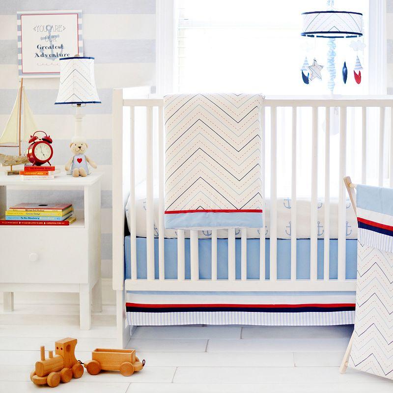 My Baby Sam First Mate 3-pc. Crib Bedding Set, Blue