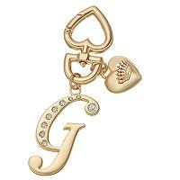 Juicy Couture Rhinestone Initial Key Chain