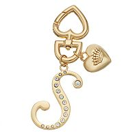 Juicy Couture Rhinestone Initial Key Chain