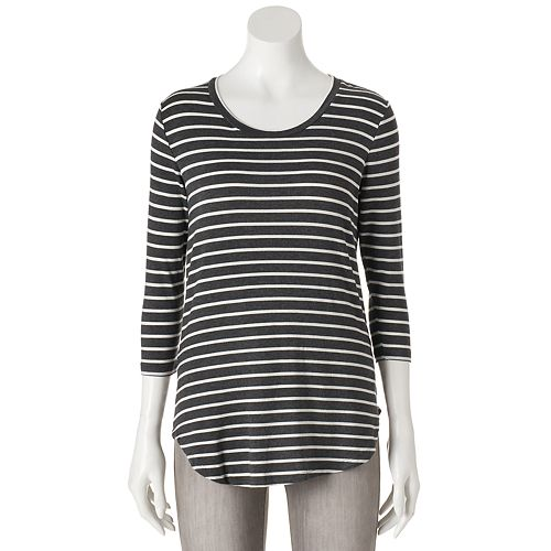 Women's Olivia Sky Striped Tunic Tee