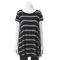Women's Olivia Sky Striped Tunic Tee
