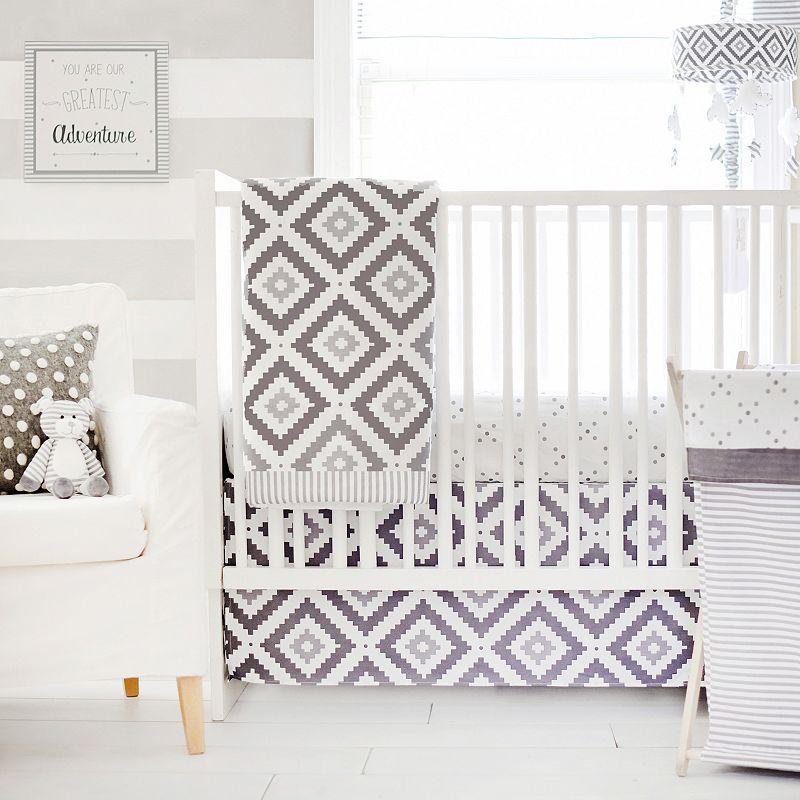 My Baby Sam Imagine Geometric 3-pc. Crib Bedding Set, Grey