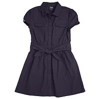 Girls 4-20 French Toast School Uniform Canvas Shirt Dress